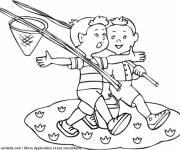 Coloring pages Summer and Childhood