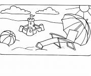 Coloring pages Summer and La Vacance