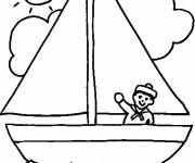 Coloring pages Summer and Sunny Day