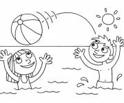Coloring pages Summer on The Beach