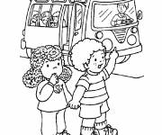 Coloring pages We take the nursery bus