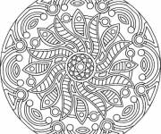 Coloring pages Difficult Sun Mandala