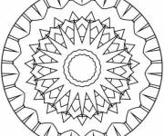 Coloring pages Easy child mandala