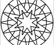 Coloring pages Easy Mandala in vector
