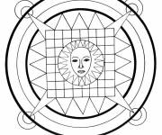 Coloring pages Easy Sun Mandala