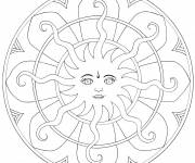 Coloring pages Personalized Sun Mandala