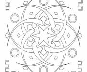 Coloring pages Star Mandala for Adults