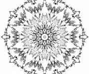 Coloring pages Sun Rays Mandala