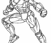 Coloring pages Angry iron man