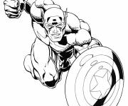 Coloring pages Avengers Captain America