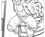 Coloring pages Avengers Hulk vector