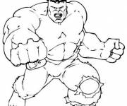 Coloring pages Avengers the mighty Hulk
