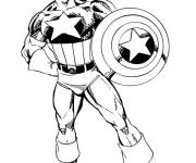 Coloring pages Captain America hero