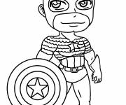 Coloring pages Captain America Kawaii