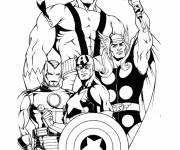 Coloring pages Color Super Heroes