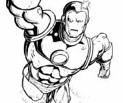 Coloring pages Iron Man in black and white