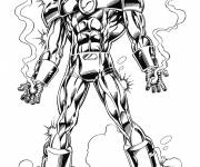 Coloring pages Powerful Iron Man to download