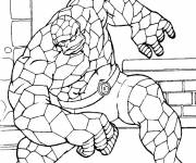 Coloring pages Stylized Super Hero