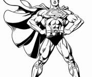 Coloring pages Vector Super Man