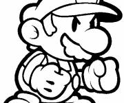 Coloring pages Angry super mario