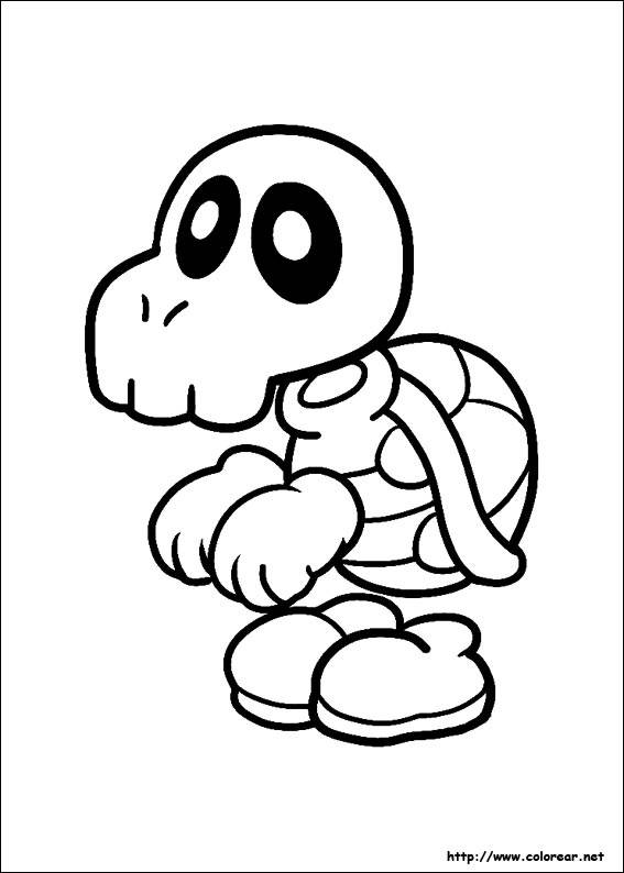 Free coloring and drawings Humorous Koopa Troopa turtle Coloring page