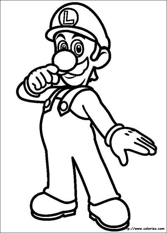 Free coloring and drawings Luigi simple Coloring page