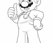Free coloring and drawings Mario with full confidence Coloring page