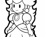 Coloring pages Princess Peach vector