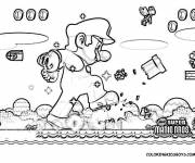 Coloring pages Realistic Super Mario