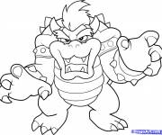 Coloring pages Scary bowser