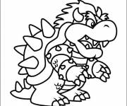 Coloring pages Stylized bowser to download