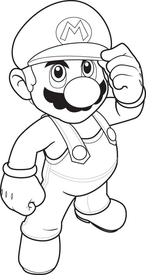 Free coloring and drawings Stylized Super Mario Coloring page