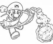 Coloring pages Super Mario and The Colored Fire Balloon