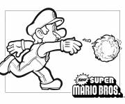 Coloring pages Super Mario and The Fire Balloon