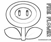 Coloring pages Super Mario Fire flower