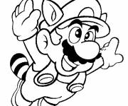 Coloring pages Super Mario in flight