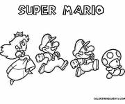 Coloring pages Super Mario running easy
