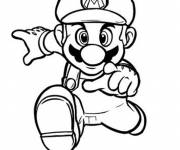 Coloring pages Super Mario running fast