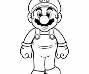 Free coloring and drawings Super Mario to cut Coloring page