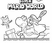 Free coloring and drawings The World of Super Mario Coloring page