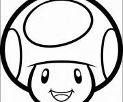 Coloring pages Vector smiling toad