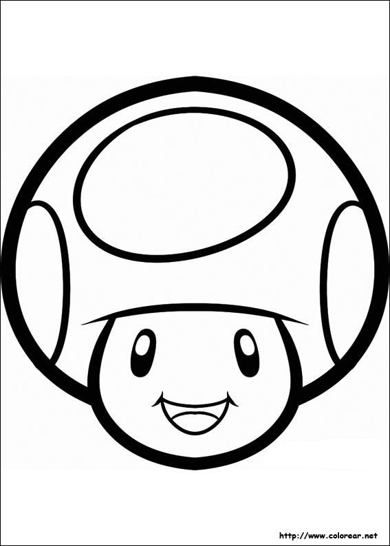 Free coloring and drawings Vector smiling toad Coloring page