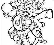 Coloring pages Vector Super Mario to download