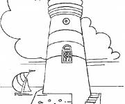 Coloring pages Buildings cartoon easy