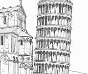 Coloring pages Buildings extraordinary