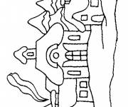 Coloring pages Buildings on computer