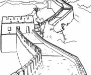 Coloring pages Buildings to complete