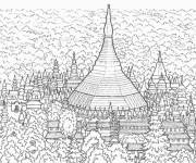 Coloring pages Drawing of Buildings