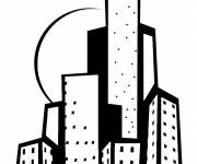 Coloring pages Wonderful drawing of Buildings