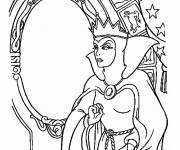 Free coloring and drawings The Evil Queen Snow White Coloring page